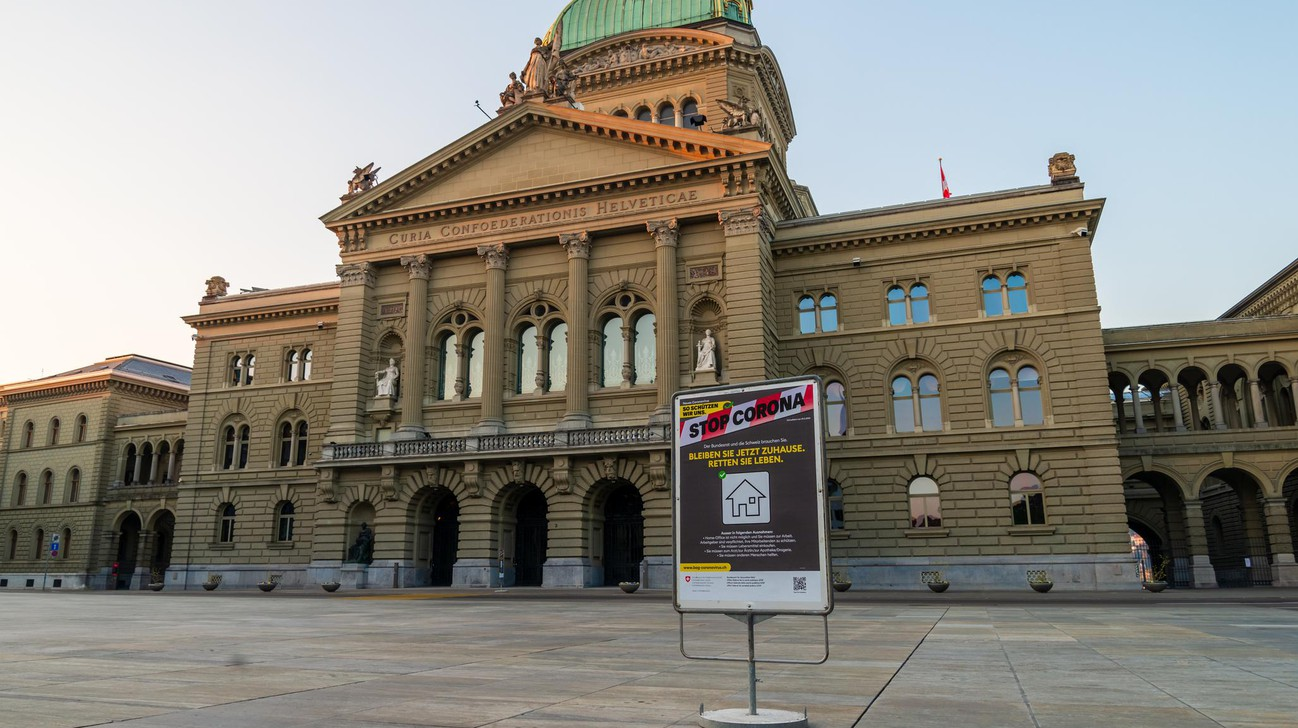 Parliament Square in Bern, Switzerland, 4 April 2020 © iStock