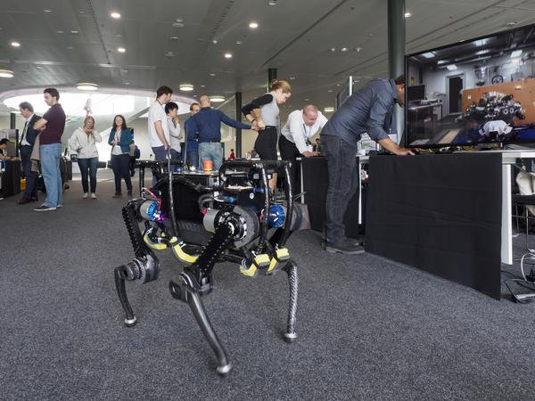 Photo of ANYmal at the Swiss Robotics Industry Day 2016