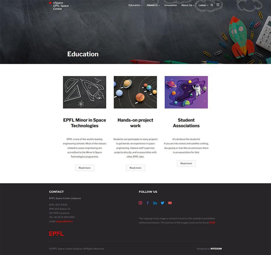 eSpace website education page