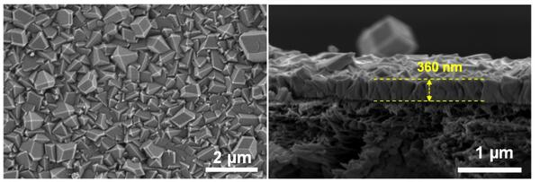 Ultrathin MOF membrane on commercial polymer support